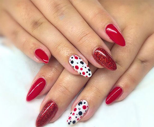 15-Black-Red-Gel-Nail-Art-Designs-Ideas- - 15 Black & Red Gel Nail Art Designs & Ideas 2016 Fabulous Nail Art