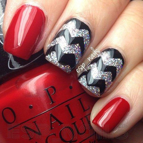 Nail art designs for red and black stylish red and black nail nail art designs for red and black black red gel nail art designs ideas prinsesfo Images