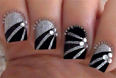 15-Black-Silver-Gel-Nail-Art-Designs-Ideas-2016-14