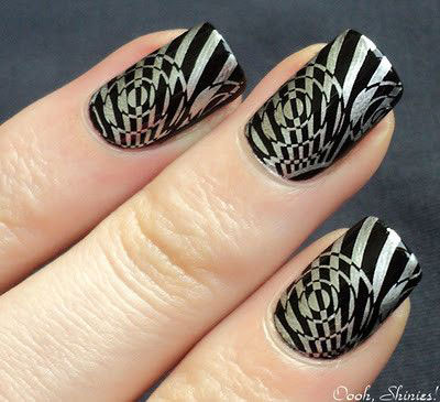 Simple Nail Art Designs Black And Silver Hession Hairdressing