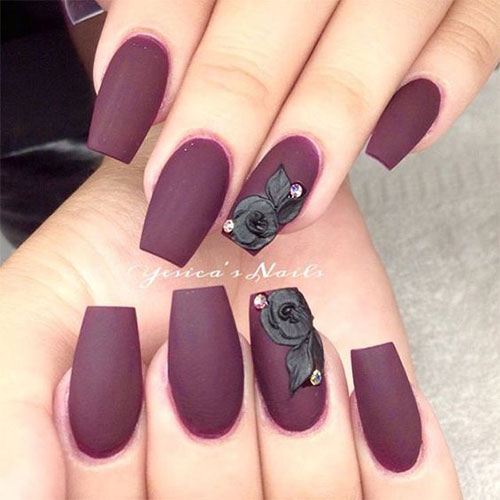 Estremamente 15 Matte Black Gel Nail Art Designs, Ideas & Trends 2016  CQ57