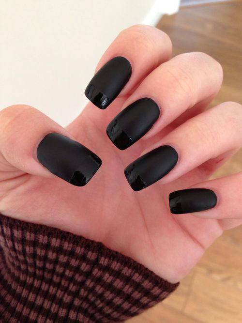 15-Matte-Black-Gel-Nail-Art-Designs-Ideas-Trends-2016-5