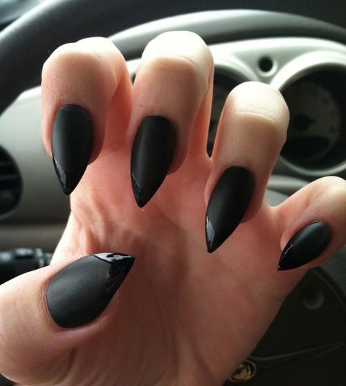 15-Matte-Black-Gel-Nail-Art-Designs-Ideas-Trends-2016-6