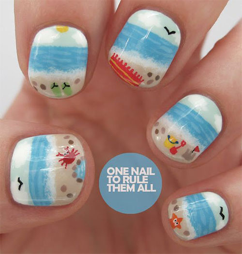 15-Summer-Beach-Nail-Art-Designs-Ideas-2016- - 15 Summer Beach Nail Art Designs & Ideas 2016 Fabulous Nail Art