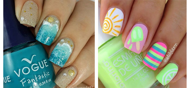 15 Summer Beach Nail Art Designs & Ideas 2016 | Fabulous Nail Art Designs - 15 Summer Beach Nail Art Designs & Ideas 2016 Fabulous Nail Art