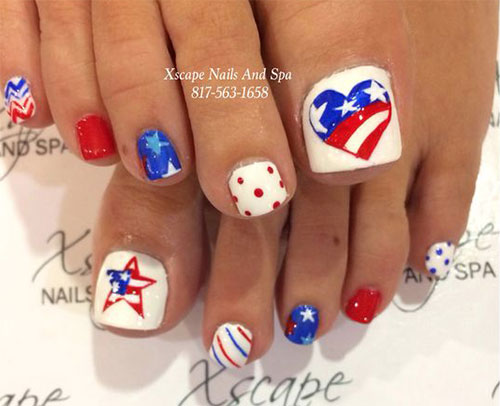 10 4th of july toe nail art designs ideas 2016 fourth of july 10 4th of july toe nail art designs prinsesfo Image collections