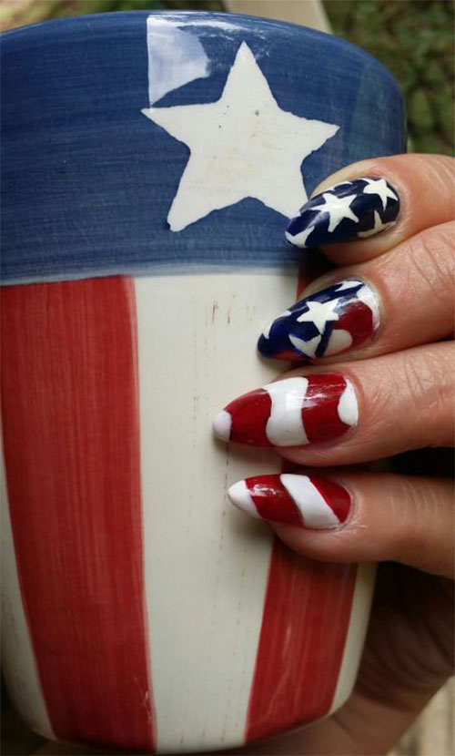 12+ 4th of July American Flag Nail Art Designs & Ideas 2016 | Fourth ...