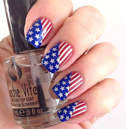 12-4th-of-July-American-Flag-Nail-Art-Designs-Ideas-2016-Fourth-of-July-Nails-2016-3