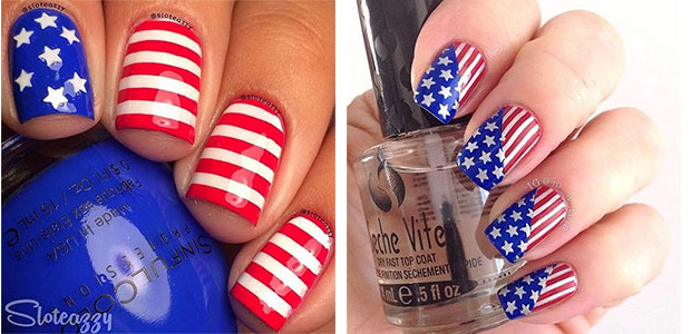 Fabulous nail art designs decor your nails for 4th of july nail art decoration flag
