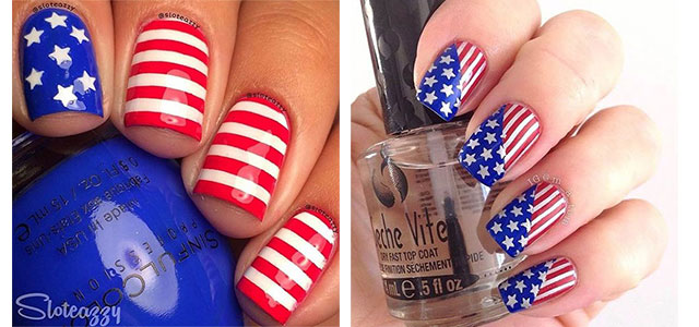 12+ 4th of July American Flag Nail Art Designs & Ideas 2016 | Fourth of  July Nails | Fabulous Nail Art Designs - 12+ 4th Of July American Flag Nail Art Designs & Ideas 2016 Fourth