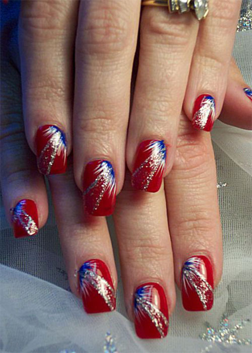 15+ 4th of July Acrylic Nail Art Designs 2016 | Fourth of July Nails ...