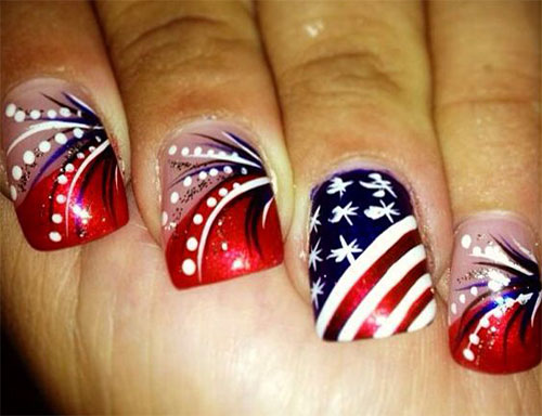 15 4th of july acrylic nail art designs 2016 fourth of