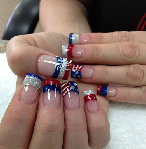 Nail designs related keywords amp suggestions christmas acrylic nail - Nail Art Designs Fireworks 2017 2018 Best Cars Reviews