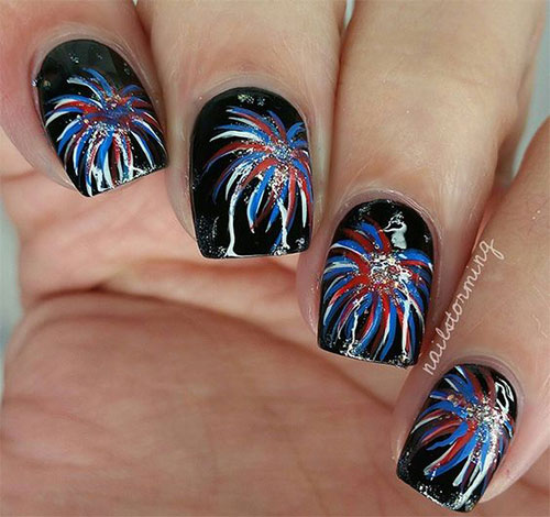 15 4th Of July Acrylic Nail Art Designs 2016 Fourth Of July Nails Fabulous Nail Art Designs