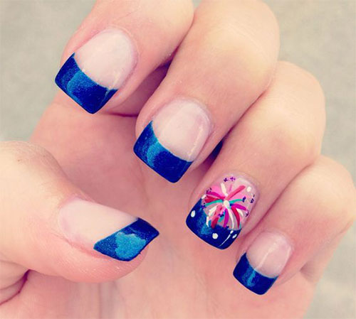 15 Nail Art Designs That Look Better On Short Nails: 15+ 4th Of July Acrylic Nail Art Designs 2016