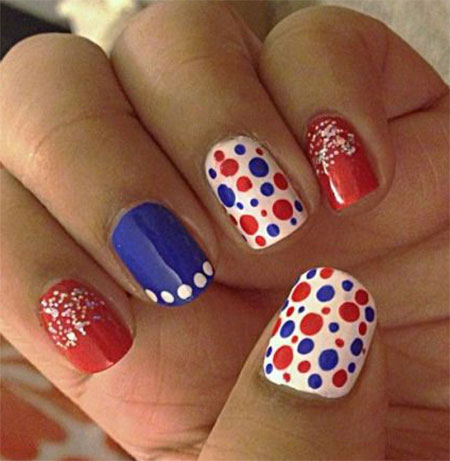 15 cute  simple 4th of july nail art designs  ideas