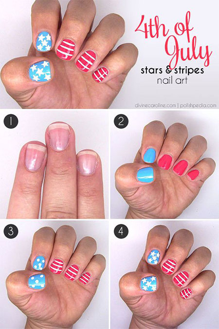 15-Easy-Simple-4th-of-July-Nail-Art-Tutorials-For-Learners-2016-4