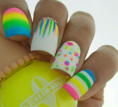 15-Neon-Summer-Nail-Art-Designs-Ideas-2016- - 15 Neon Summer Nail Art Designs & Ideas 2016 Fabulous Nail Art