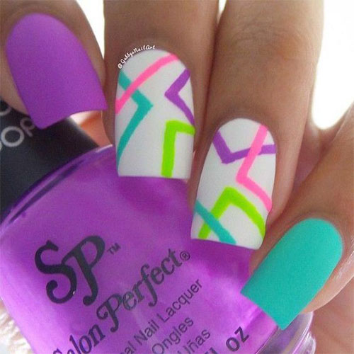 15 Neon Summer Nail Art Designs & Ideas 2016