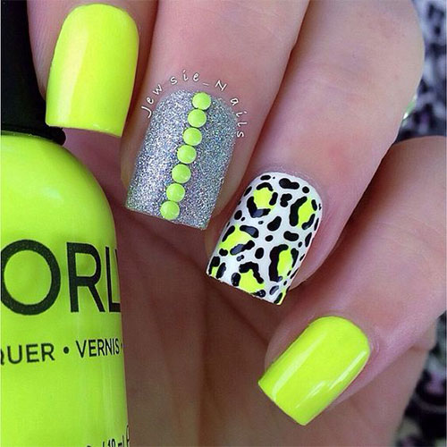 15 Neon summer Nail Art Designs & Ideas 2016 | Fabulous Nail Art Designs