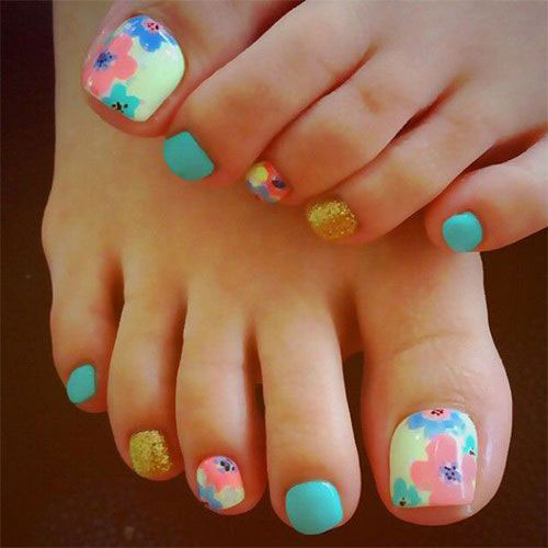 Foot Nail Art Design: 15+ Summer Toe Nail Art Designs & Ideas 2016
