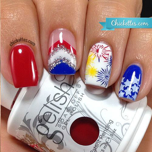 18-Awesome-4th-of-July-Fireworks-Nail-Art-Designs-2016-Fourth-of-July-Nails-11