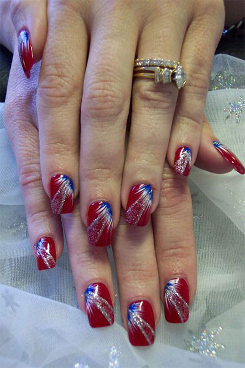 18 Awesome 4th of July Fireworks Nail Art Designs 2016 | Fourth of ...