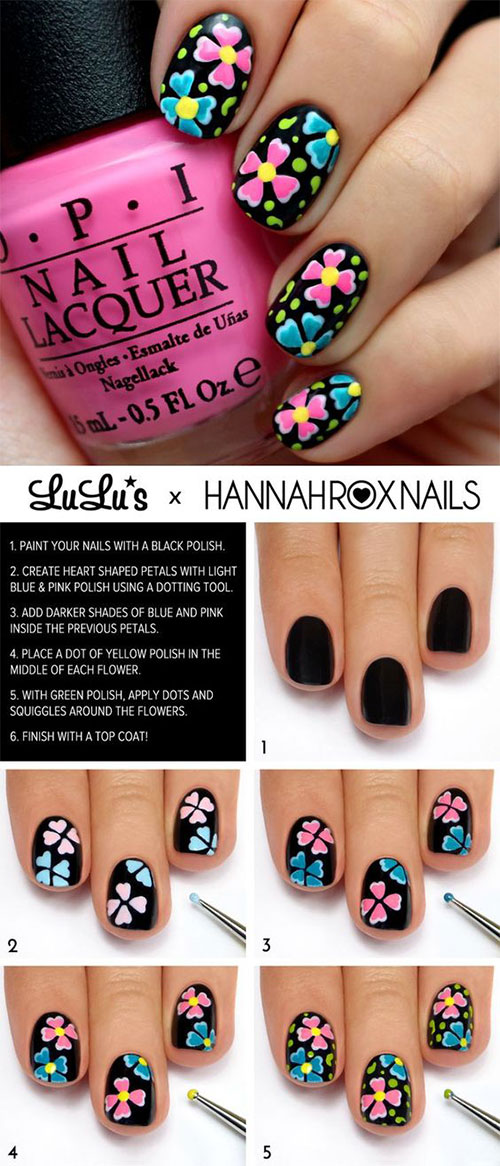 20 Easy Step By Step Summer Nail Art Tutorials For Beginners 2016 ...