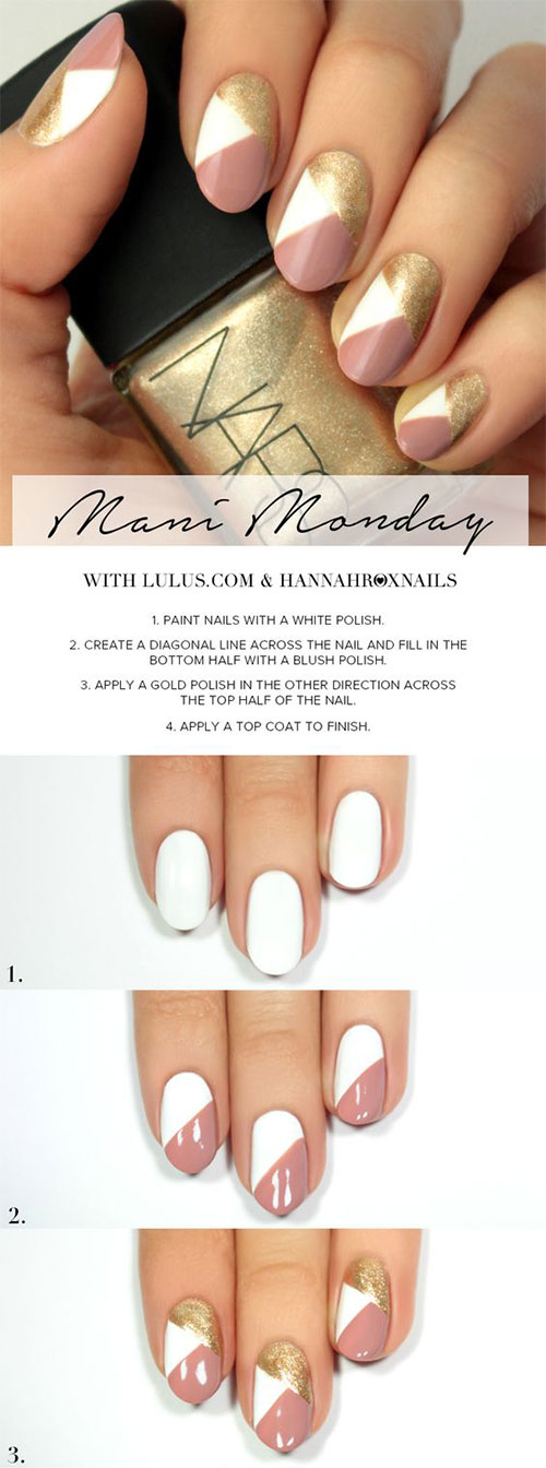 20 Easy Step By Step Summer Nail Art Tutorials For Beginners 2016 Fabulous Nail Art Designs
