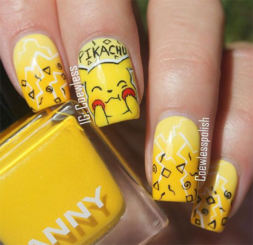 12-Pokemon-Pikachu-Nails-Art-Designs-Stickers-2016-3