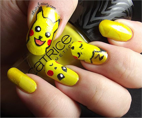 12-Pokemon-Pikachu-Nails-Art-Designs-Stickers-2016-4