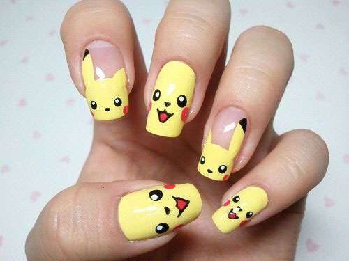 12-Pokemon-Pikachu-Nails-Art-Designs-Stickers-2016-5