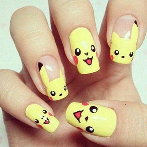 12-Pokemon-Pikachu-Nails-Art-Designs-Stickers-2016-6