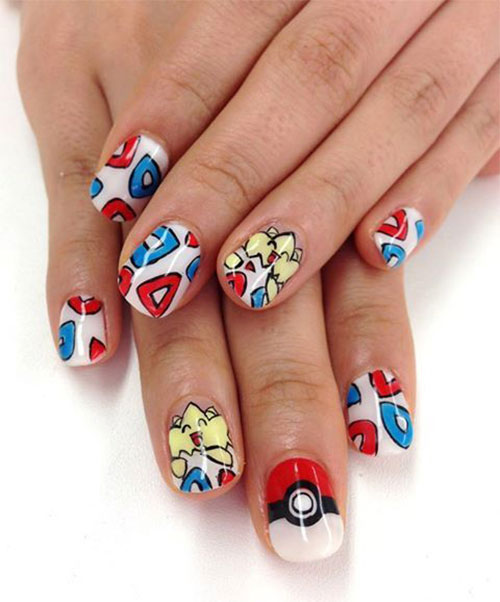 20-Cute-Easy-Pokemon-Go-Themed-Nails-Art-Designs-Stickers-2016-1