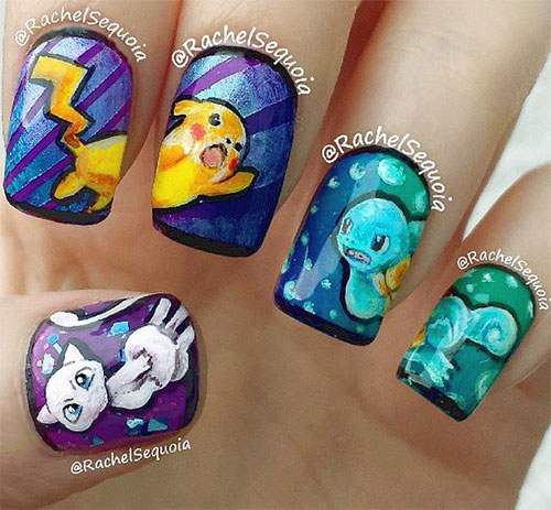 20-Cute-Easy-Pokemon-Go-Themed-Nails-Art-Designs-Stickers-2016-10