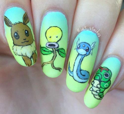 20-Cute-Easy-Pokemon-Go-Themed-Nails-Art-Designs-Stickers-2016-14