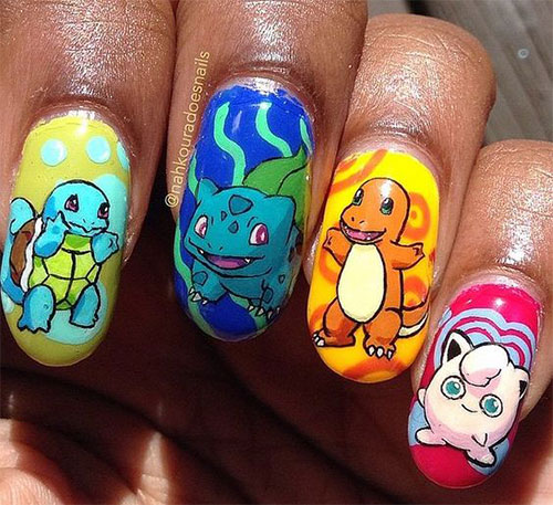 20-Cute-Easy-Pokemon-Go-Themed-Nails-Art-Designs-Stickers-2016-15