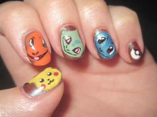 20-Cute-Easy-Pokemon-Go-Themed-Nails-Art-Designs-Stickers-2016-18