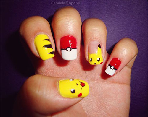 20-Cute-Easy-Pokemon-Go-Themed-Nails-Art-Designs-Stickers-2016-19