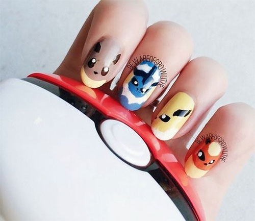 20-Cute-Easy-Pokemon-Go-Themed-Nails-Art-Designs-Stickers-2016-20