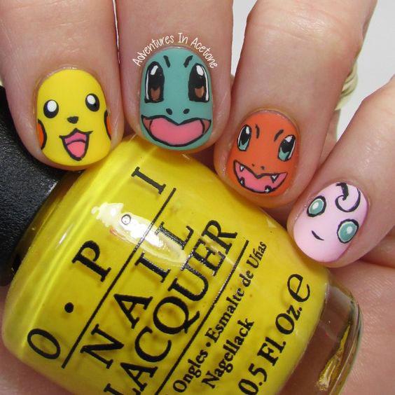 20-Cute-Easy-Pokemon-Go-Themed-Nails-Art-Designs-Stickers-2016-3
