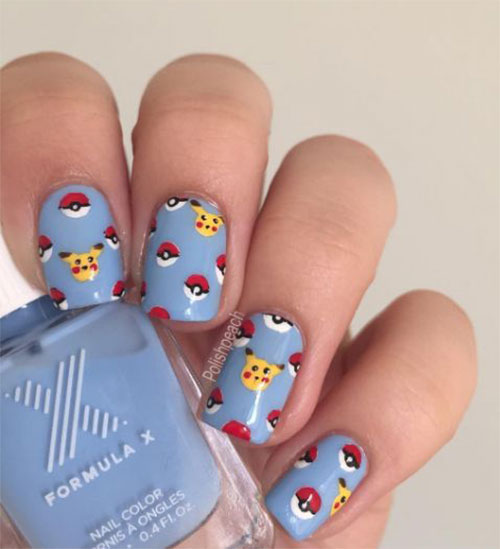 20-Cute-Easy-Pokemon-Go-Themed-Nails-Art-Designs-Stickers-2016-4