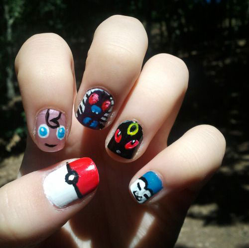 20-Cute-Easy-Pokemon-Go-Themed-Nails-Art-Designs-Stickers-2016-7