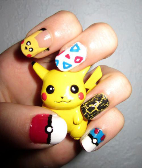 20-Cute-Easy-Pokemon-Go-Themed-Nails-Art-Designs-Stickers-2016-9