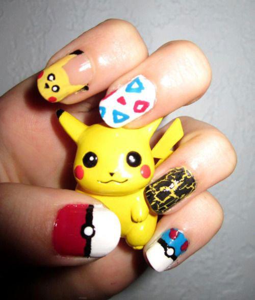 20-Cute-Easy-Pokemon-Go-Themed-Nails-Art-Designs-Stickers-2016-9