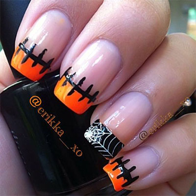 12-Frankenstein-Halloween-Nails-Art-Designs-2016-2