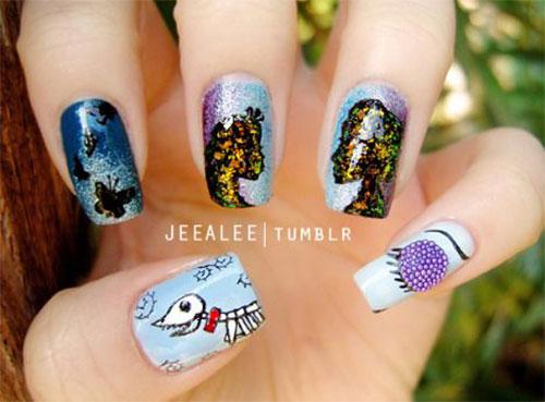 15 Halloween Acrylic Nails Art Designs Ideas 2016