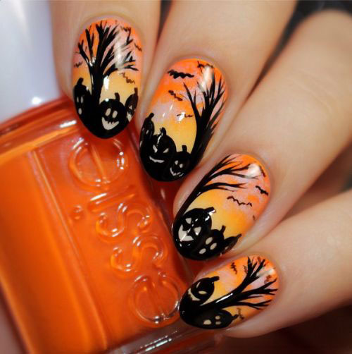 15-Halloween-Gel-Nail-Art-Designs-Ideas-2016- - 15+ Halloween Gel Nail Art Designs & Ideas 2016 Fabulous Nail Art