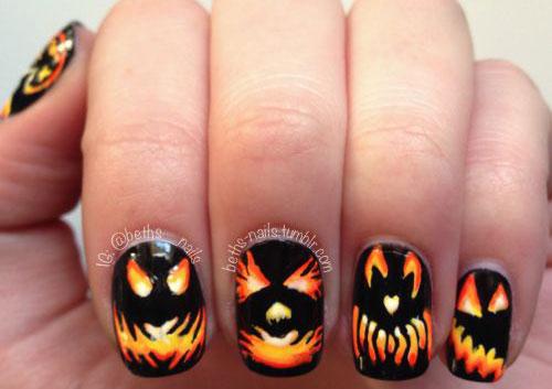 15-Halloween-Pumpkin-Nails-Art-Designs-2016-13
