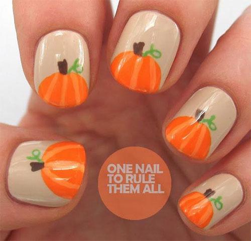 15-Halloween-Pumpkin-Nails-Art-Designs-2016-14 - 15+ Halloween Pumpkin Nails Art Designs 2016 Fabulous Nail Art Designs